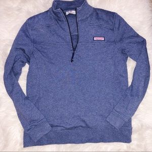 Never Worn Vineyard Vines Blue Quarter Zip Up